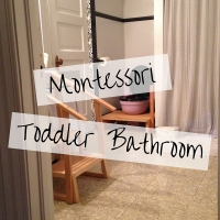 How to Set Up a Montessori Toddler Bathroom
