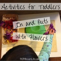Activities for Toddlers - In and Outs with Flowers