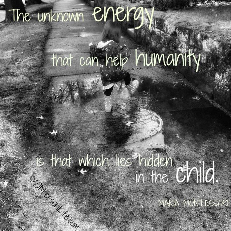 Maria Montessori Quote Hidden In The Child Momtessori Life