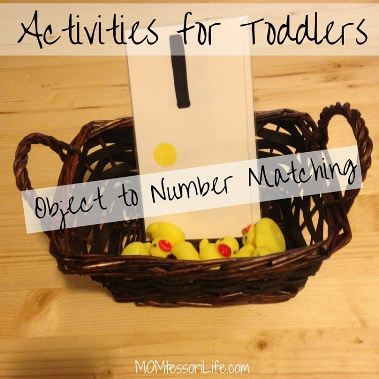 Activities for Toddlers - Object to Number Matching