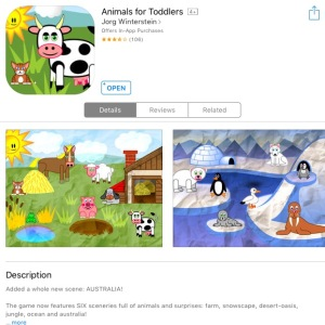 Animals for Toddlers app