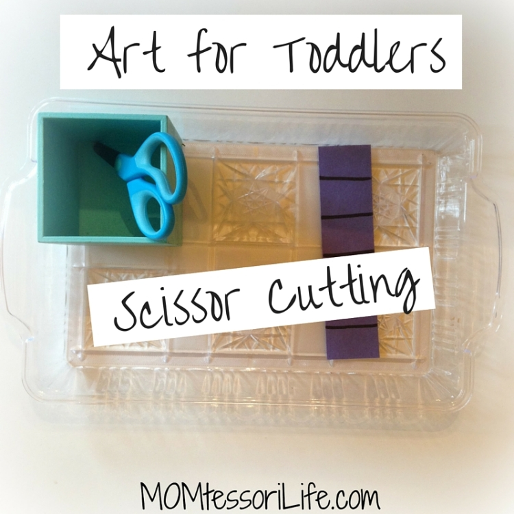Art for Toddlers - Scissor Cutting