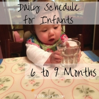 Daily Schedule for Infants -- 6 to 9 Months