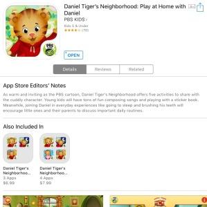 daniel tiger app 1