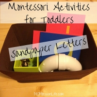 Montessori Activities for Toddlers -- Sandpaper Letters