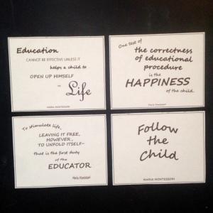 montessori quotes magnet 4 pack etsy pic