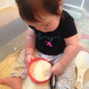 rice sensory bin 2