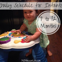 Daily Schedule for Infants -- 9 to 12 Months