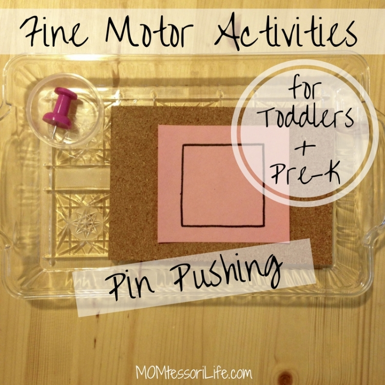 Fine Motor Activities for Toddlers and Preschoolers -- Pin Pushing