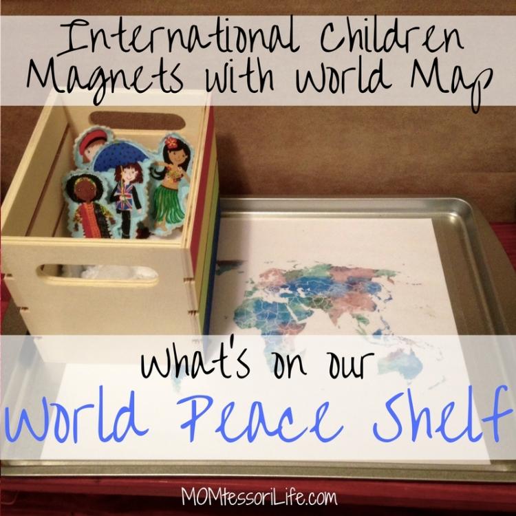 International Children Magnets with World Map