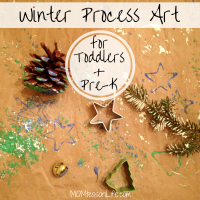 Winter Process Art for Toddlers and Preschoolers