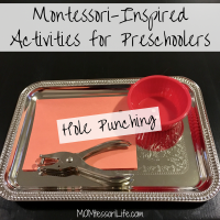 Montessori-Inspired Activities for Preschoolers -- Hole Punching