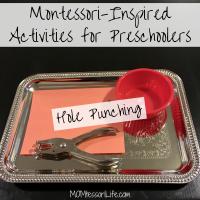 Montessori-Inspired Activities for Preschoolers -- Hole Punching