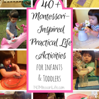 40+ Montessori-Inspired Practical Life Activities for Infants and Toddlers