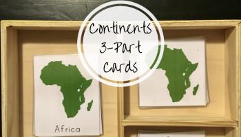 Montessori continent studies for preschoolers diy montessori montessori continent studies for preschoolers continents 3 part cards gumiabroncs Images