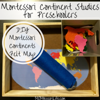 Montessori Continent Studies for Preschoolers -- DIY Montessori Continent Felt Map