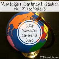 Montessori Continent Studies for Preschoolers -- DIY Montessori Continent Globe