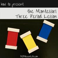 How to Present the Montessori Three Period Lesson