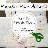 Montessori Math Activities -- Bead Bar Printable Bundle from Every Star is Different