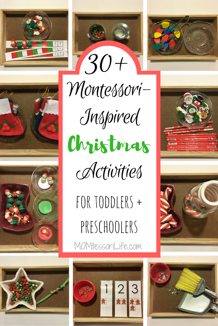 Christmas Preschool.30 Montessori Inspired Christmas Activities For Toddlers