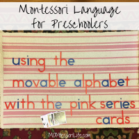 Montessori Language for Preschoolers -- Using the Movable Alphabet with the Pink Series Cards
