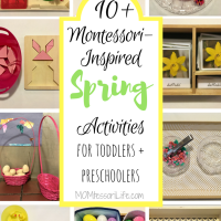 10+ Montessori-Inspired Spring Activities for Toddlers and Preschoolers