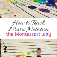 How to Teach Music Notation the Montessori Way