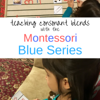 Teaching Consonant Blends with the Montessori Blue Series