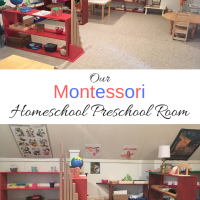 Our Montessori Homeschool Preschool Room