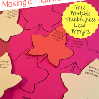 Thanksgiving Traditions:  Making a Thankfulness Tree [with free printable thankfulness leaf prompts]