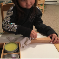 Montessori Practical Life:  Wood Polishing