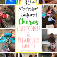30+ Montessori-Inspired Chores Your Toddler & Preschooler Can Do