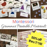 Montessori-Inspired Grammar Printables -- 50% off sale!!!