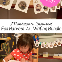 Montessori-Inspired Fall Harvest Art Writing Bundle