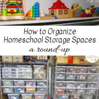 How to Organize Your Homeschool Storage Space