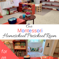 Our Montessori Homeschool Preschool Room for an Almost 4-Year-Old