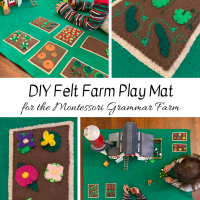 DIY Felt Farm Play Mat for the Montessori Grammar Farm