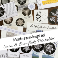Montessori-Inspired Snow & Snowflakes Printables