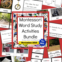 Montessori Word Study Activities Printables